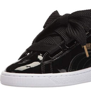 PUMA Women's Basket Heart Patent Fashion Sneaker